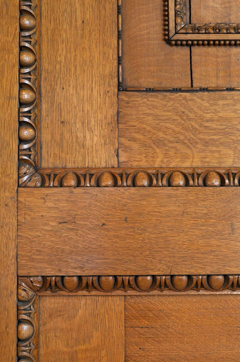 Massive Carved Oak Pocket Door For Sale At 1stdibs