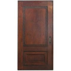 Massive Carved Oak Pocket Door