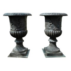 Massive Cast Iron Urns