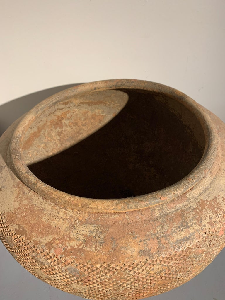 Massive Chinese Eastern Han Dynasty Impressed Pottery Jar '25-220 AD' For Sale 1