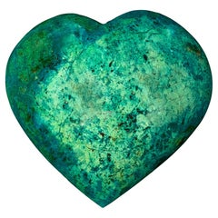 Massive Chrysocolla Heart