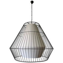 Massive Contemporary Cage Light Fixture