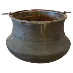 Massive Copper Cauldron Pot Planter Dated 1836