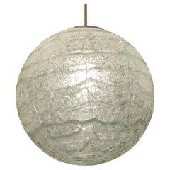 Massive Crackle Glass Doria Globe