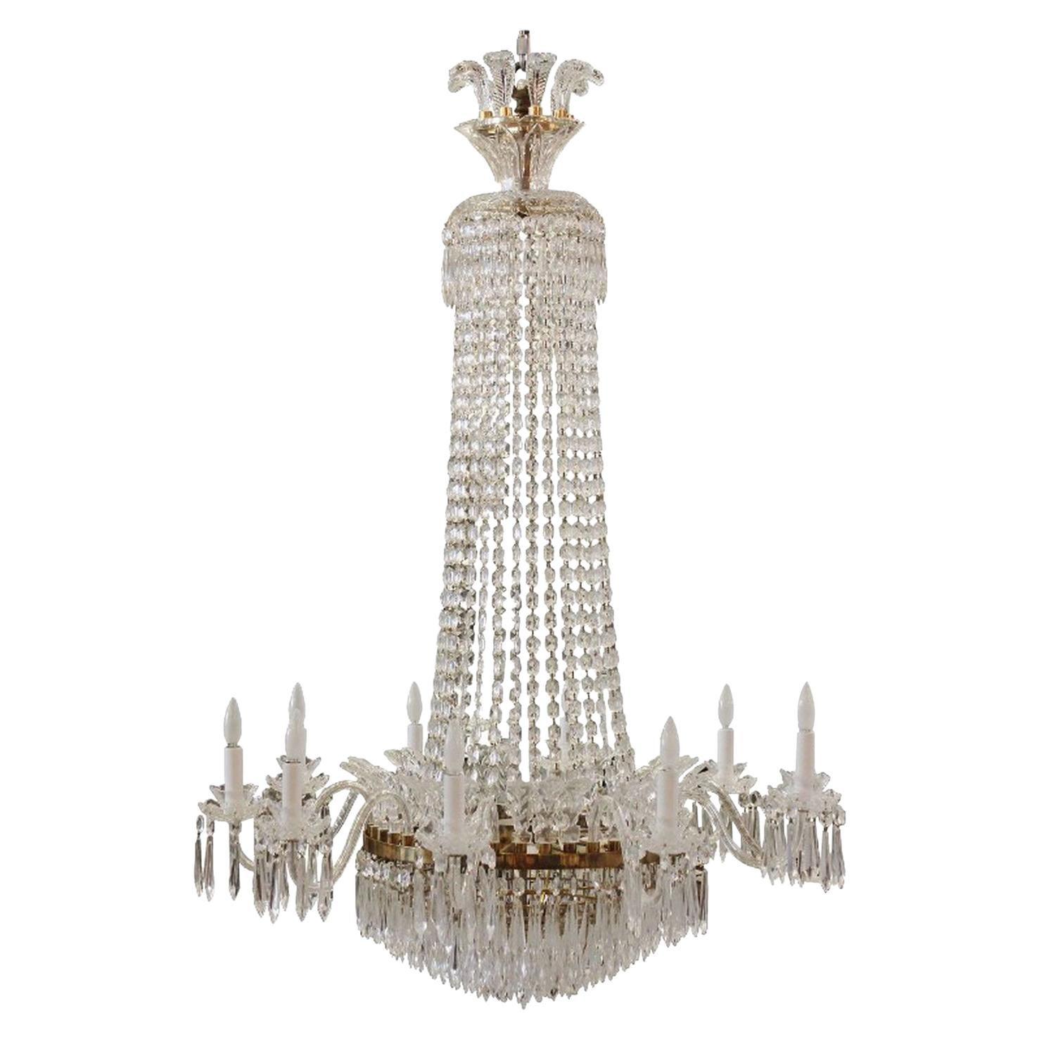 Massive Custom Waterford Crystal Chandelier