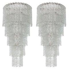 Massive Customizable Pair of Italian Sconces in Murano Glass Italy Contemporary