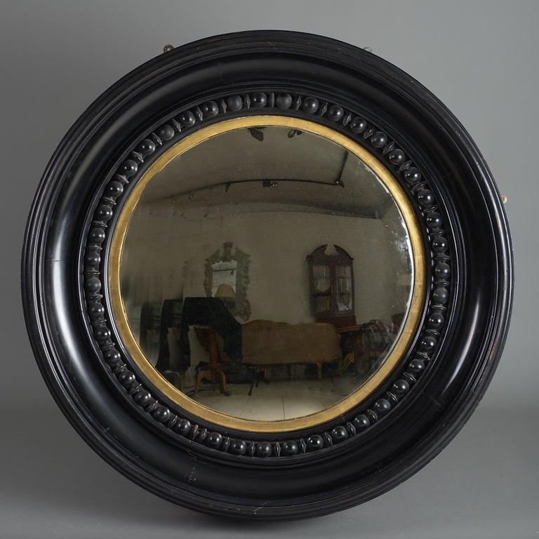 Gilt Massive George IV Convex Mirror For Sale