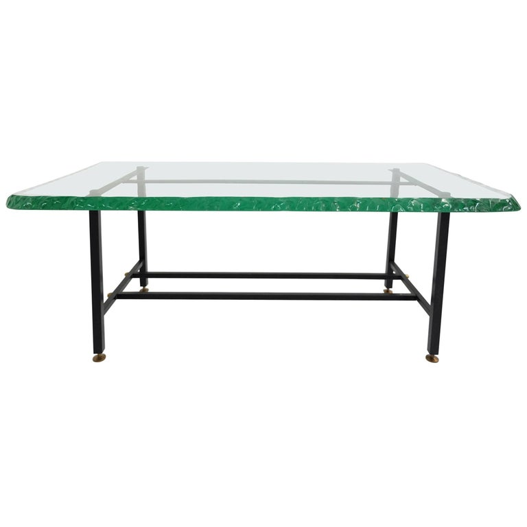 Massive Glass Coffee Table For Sale At 1stdibs