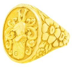 Massive Gold Signet Ring