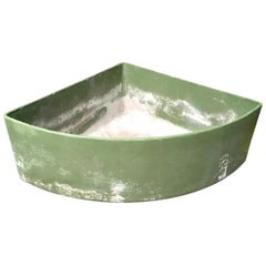 Massive Green Triangular Willy Guhl Corner Planter
