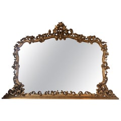 Massive Hand-Carved Gilt Wood Mirror