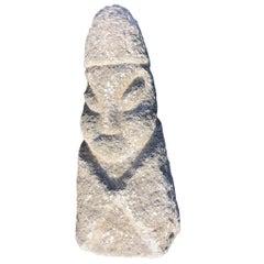 "Massive Hand Carved Stone ""Human Effigy"" Figure Sculpture, #2"