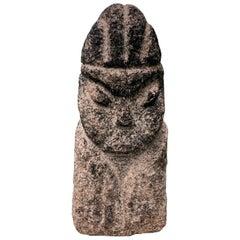 "Massive Hand Carved Stone ""Human Effigy"" Figure Sculpture"