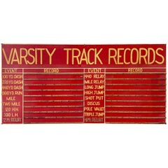 Massive Hand Painted Varsity High School Track and Field Sign