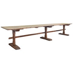 Massive Italian Elmwood Refectory Table from the Mid to Late 16th Century