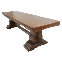 Massive Italian Oak Refractory Table, 18th Century