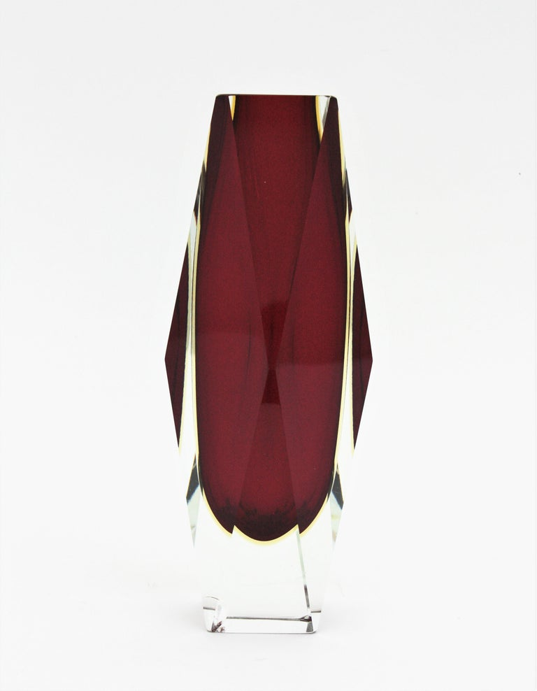 A Monumental Murano art glass vase attributed to Mandruzzato, Italy, 1960s.