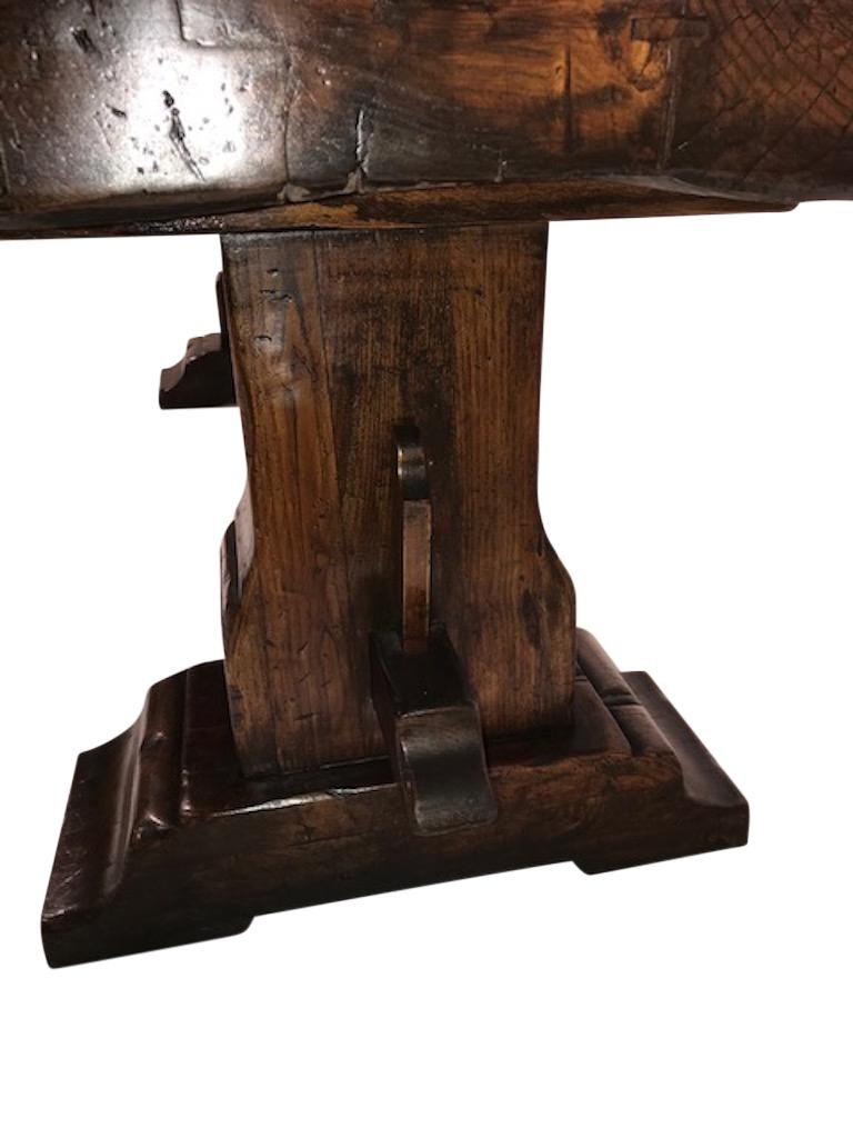 18th Century and Earlier Massive Oak Refectory Table, Italian, 18th Century For Sale