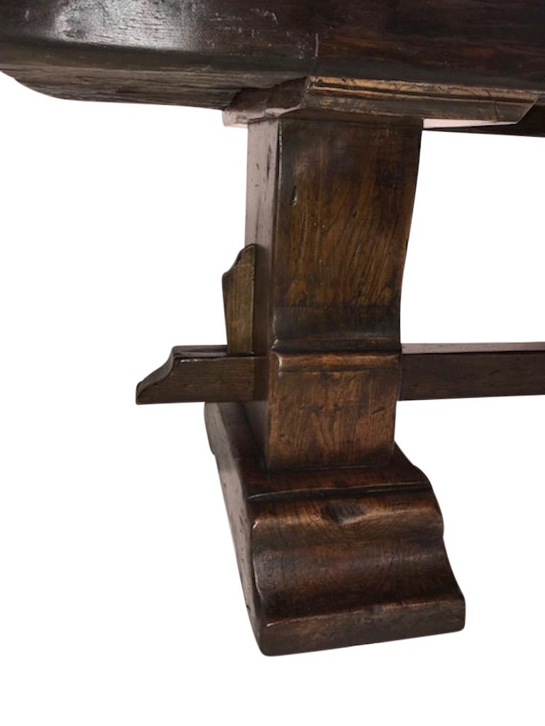 Massive Oak Refectory Table, Italian, 18th Century For Sale 1