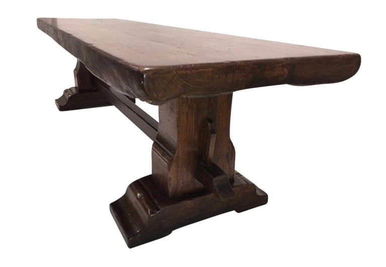 Massive Oak Refectory Table, Italian, 18th Century For Sale 2