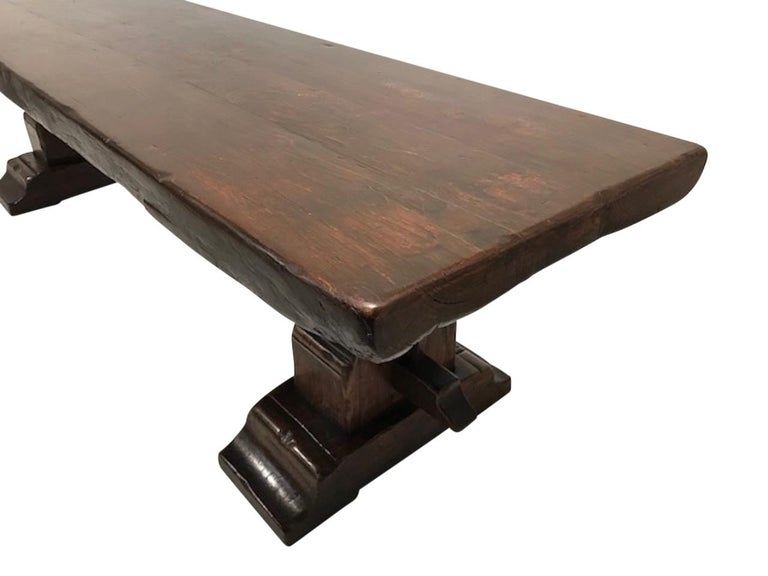 Massive Oak Refectory Table, Italian, 18th Century For Sale 4