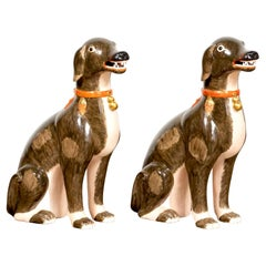 Massive Pair of Qianlong Chinese Export Style Sated Dogs, Attib to Mottahedeh