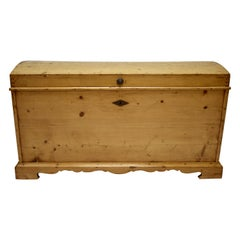 Massive Pine Cedar-Lined Dome-Top Trunk or Blanket Chest