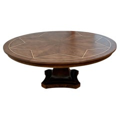 Massive Round Inlaid Dining Table by Gregorius Pineo