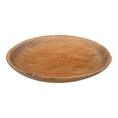 Massive Rustic Antique Wooden Dough Bowl