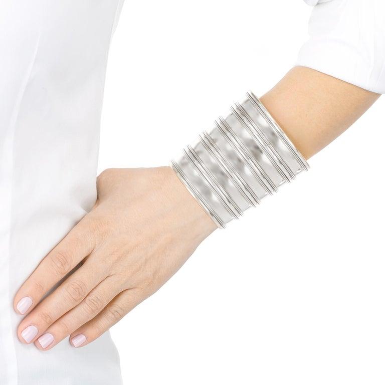 Women's or Men's Massive Sterling Cuff For Sale