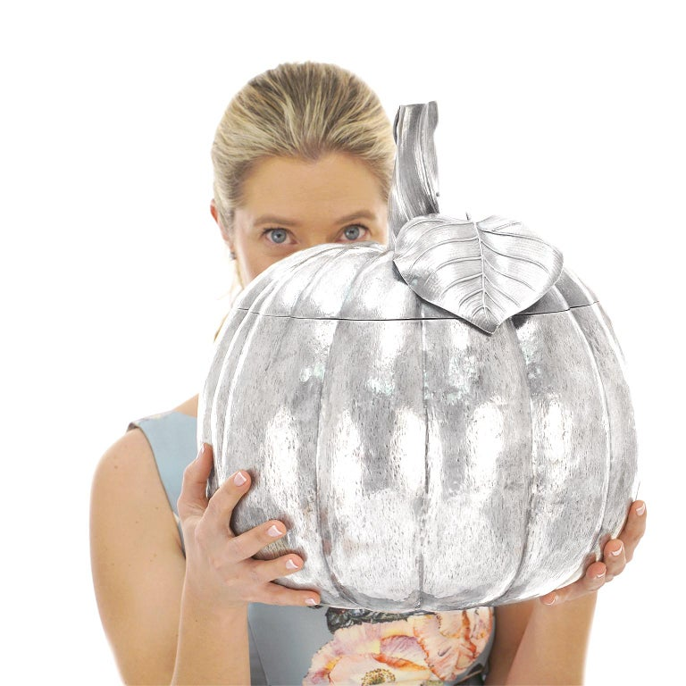 Massive Sterling Pumpkin by Fratelli Cacchione For Sale 6