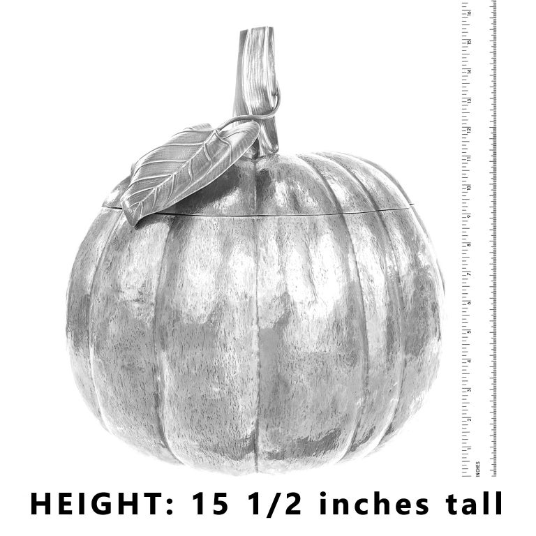 Sterling Silver Massive Sterling Pumpkin by Fratelli Cacchione For Sale