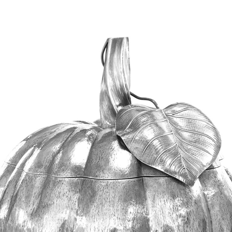 Massive Sterling Pumpkin by Fratelli Cacchione For Sale 1
