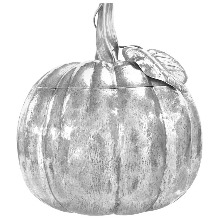 Massive Sterling Pumpkin by Fratelli Cacchione For Sale
