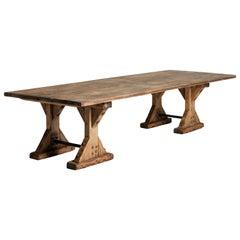 Massive Trestle Table