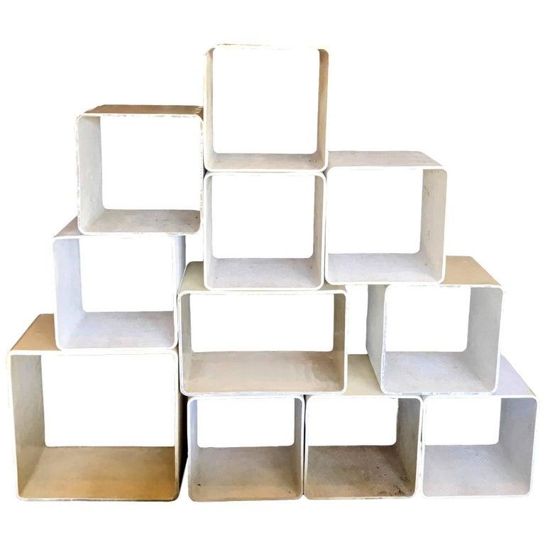 Massive Willy Guhl Modular 11-Piece Bookcase