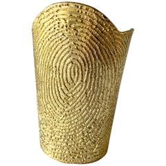 Massive Yves Saint Laurent Gold Print Cuff Bracelet