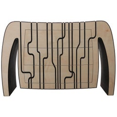 """""""Master Blaster"""" 21st Century Chest of Drawers with Ebony Inlays"""