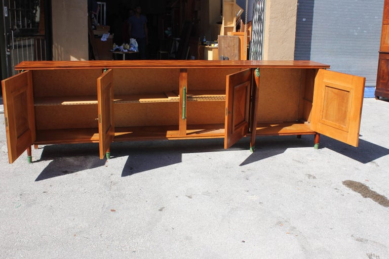 Master Piece French Art Deco Sideboard / Buffet Cherrywood by Leon Jallot, 1930s For Sale 5