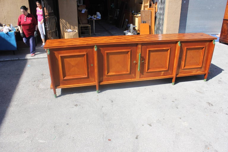 Master Piece French Art Deco Sideboard / Buffet Cherrywood by Leon Jallot, 1930s For Sale 6