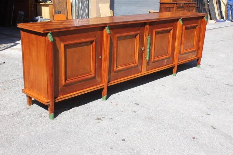 Master Piece French Art Deco Sideboard / Buffet Cherrywood by Leon Jallot, 1930s For Sale 7