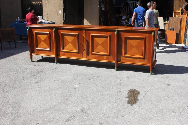 Master Piece French Art Deco Sideboard / Buffet Cherrywood by Leon Jallot, 1930s For Sale 8