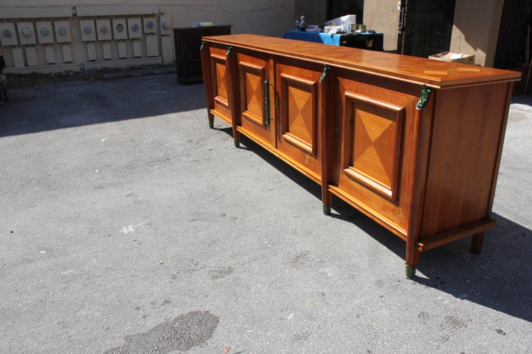 Master Piece French Art Deco Sideboard / Buffet Cherrywood by Leon Jallot, 1930s For Sale 9