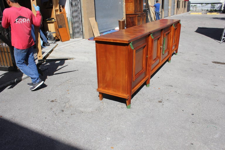 Master Piece French Art Deco Sideboard / Buffet Cherrywood by Leon Jallot, 1930s For Sale 11