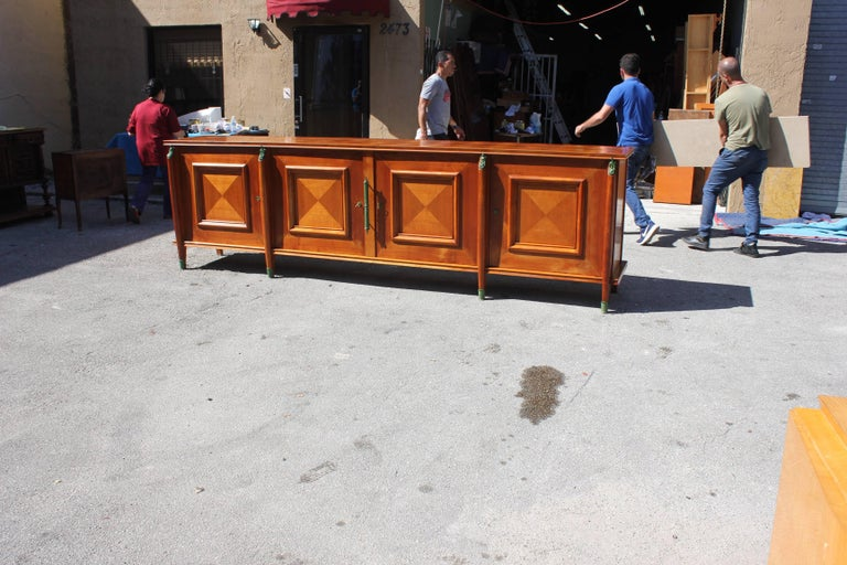 Master Piece French Art Deco Sideboard / Buffet Cherrywood by Leon Jallot, 1930s For Sale 13