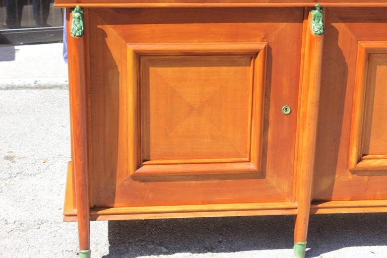 Master Piece French Art Deco Sideboard / Buffet Cherrywood by Leon Jallot, 1930s For Sale 1
