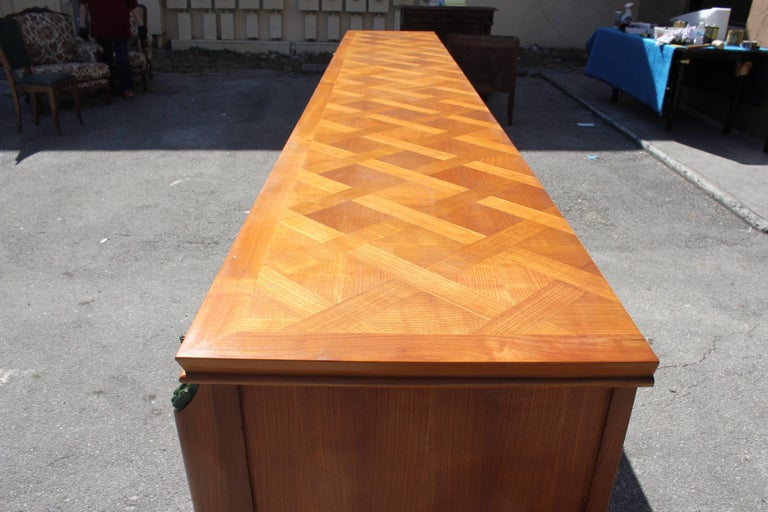 Master Piece French Art Deco Sideboard / Buffet Cherrywood by Leon Jallot, 1930s For Sale 4