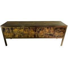 Mastercraft Acid Etched Cabinet by Bernhard Rohne