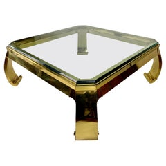 Mastercraft Asian Inspired Brass Coffee Table by Karl Springer