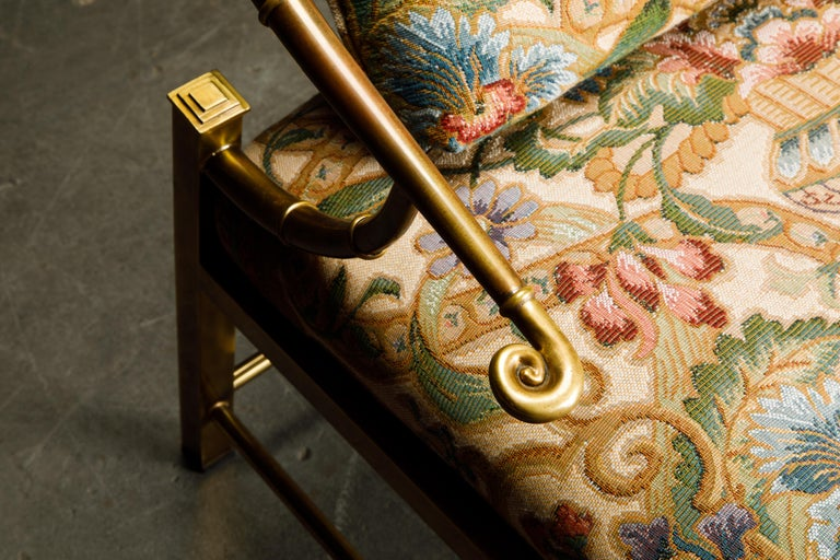 Brass Lounge Chair by Charles Pengally for Mastercraft, c. 1970 Italy For Sale 11